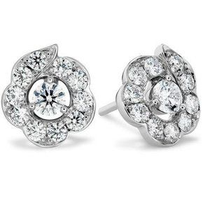 Jewelry - 3.50 Ct sparkling round cut diamonds lady studs ea